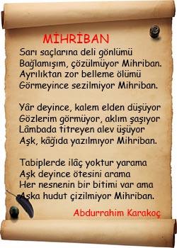 Mihriban Şiiri