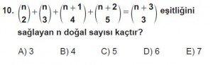 10. Sınıf Matematik kazanım Test 1 soru10