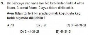 10. Sınıf Matematik kazanım Test 1 soru3
