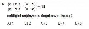 10. Sınıf Matematik kazanım Test 1 soru5