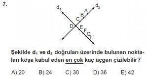 10. Sınıf Matematik kazanım Test 1 soru7