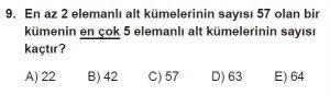 10. Sınıf Matematik kazanım Test 1 soru9