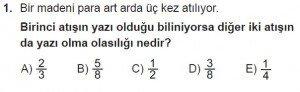 10. Sınıf Matematik kazanım Test 2 soru1