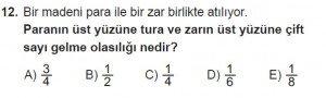 10. Sınıf Matematik kazanım Test 2 soru12