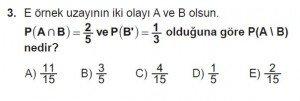 10. Sınıf Matematik kazanım Test 2 soru3