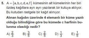 10. Sınıf Matematik kazanım Test 2 soru5