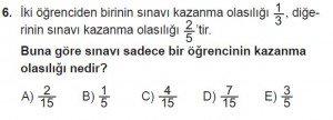 10. Sınıf Matematik kazanım Test 2 soru6