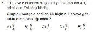 10. Sınıf Matematik kazanım Test 2 soru7