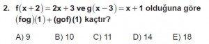 10. Sınıf Matematik kazanım Test 4  soru2
