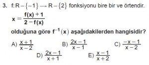 10. Sınıf Matematik kazanım Test 4  soru3