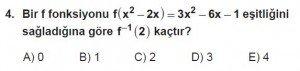 10. Sınıf Matematik kazanım Test 4  soru4