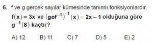 10. Sınıf Matematik kazanım Test 4  soru6