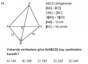 10. Sınıf Matematik kazanım Test 7 soru11