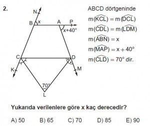 10. Sınıf Matematik kazanım Test 7 soru2