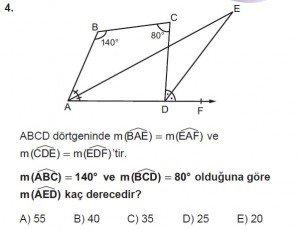 10. Sınıf Matematik kazanım Test 7 soru4