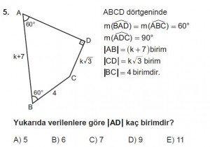 10. Sınıf Matematik kazanım Test 7 soru5
