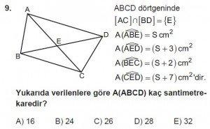 10. Sınıf Matematik kazanım Test 7 soru9
