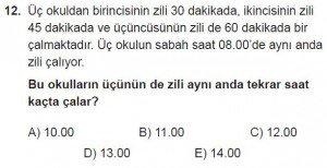 11. Sınıf Temel Matematik kazanım Test 2 soru12