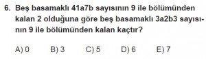 11. Sınıf Temel Matematik kazanım Test 2 soru6
