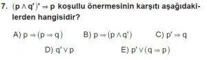 11. Sınıf ileri Matematik kazanım Test 1 soru7