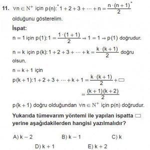 11. Sınıf ileri Matematik kazanım Test 2 soru11