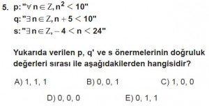11. Sınıf ileri Matematik kazanım Test 2 soru5