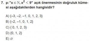 11. Sınıf ileri Matematik kazanım Test 2 soru7