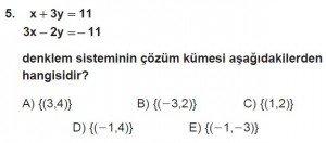 11. Sınıf ileri Matematik kazanım Test 5 soru5