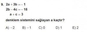11. Sınıf ileri Matematik kazanım Test 5 soru9