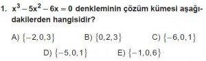 11. Sınıf ileri Matematik kazanım Test 6 soru1