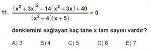 11. Sınıf ileri Matematik kazanım Test 6 soru11