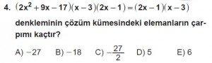 11. Sınıf ileri Matematik kazanım Test 6 soru4
