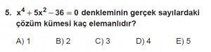 11. Sınıf ileri Matematik kazanım Test 6 soru5