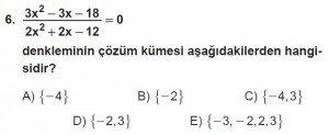 11. Sınıf ileri Matematik kazanım Test 6 soru6