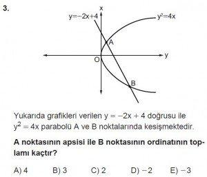 11. Sınıf ileri Matematik kazanım Test 7 soru3