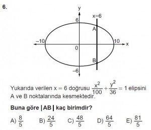 11. Sınıf ileri Matematik kazanım Test 7 soru6