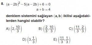 11. Sınıf ileri Matematik kazanım Test 7 soru8