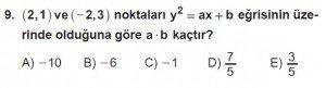 11. Sınıf ileri Matematik kazanım Test 7 soru9