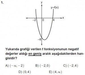 11. Sınıf ileri Matematik kazanım Test 8 soru1