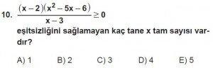 11. Sınıf ileri Matematik kazanım Test 8 soru10