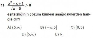 11. Sınıf ileri Matematik kazanım Test 8 soru11