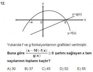 11. Sınıf ileri Matematik kazanım Test 8 soru12