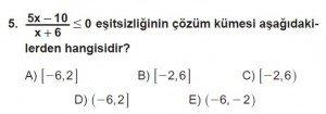 11. Sınıf ileri Matematik kazanım Test 8 soru5