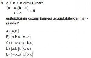 11. Sınıf ileri Matematik kazanım Test 8 soru9