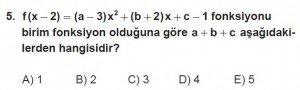 12. Sınıf Matematik kazanım Test 1 soru5