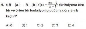 12. Sınıf Matematik kazanım Test 1 soru6