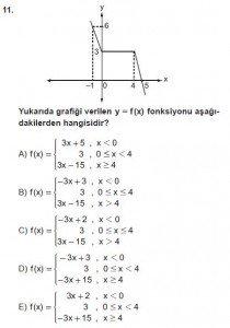 12. Sınıf Matematik kazanım Test 2 soru11