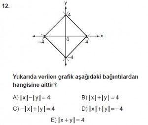 12. Sınıf Matematik kazanım Test 2 soru12