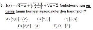 12. Sınıf Matematik kazanım Test 2 soru3
