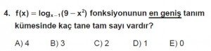 12. Sınıf Matematik kazanım Test 2 soru4